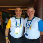 João Stropaissi, gerente regional de vendas para o Sul, com o master franqueado Luiz Walter, do Maranhão e Pará