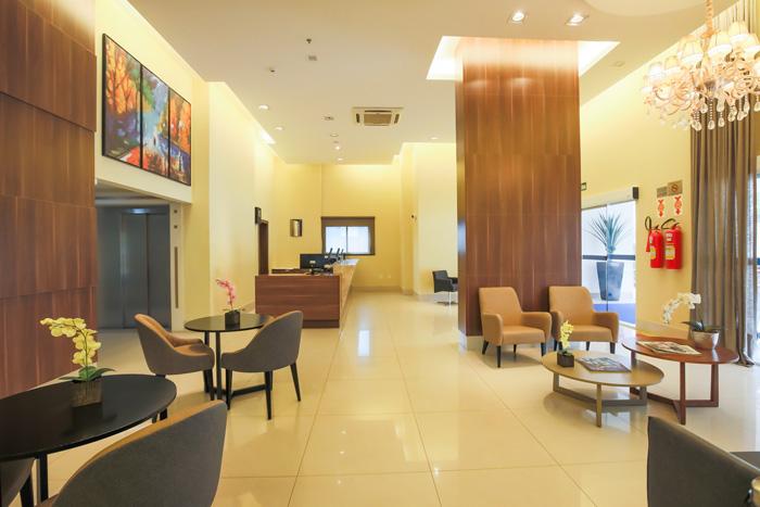 Lobby do Comfort Cuiabá, que passou a ser administrado pela Atlantica Hotels