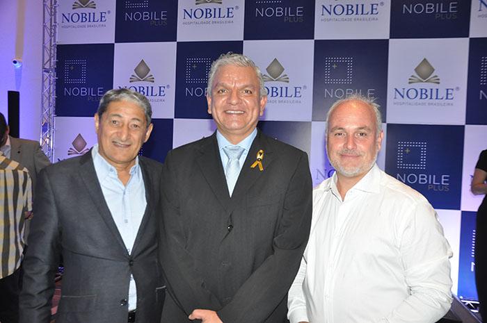 Mario Albuquerque, diretor de Desenvolvimento, Michel Otero, diretor de Projetos, Operações e Patrimônios, e Diego Filardi, diretor de Desenvolvimento para América Latina da Nobile