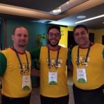 Mateus do atendimento às agências CVC interior, Rodrigo do Marketing da CVC e Aldemir Cavalcanti, gerente de produtos nacionais