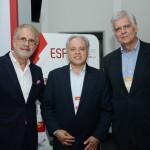 Otávio Neto, do Grupo Radar, Carlos Prado, da Tour House, e Caio Luis de Carvalho, diretor executivo do Canal Arte 1