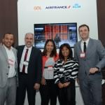 Paulo Cruz, Anderson Silva, Michelle Santos, Cristiane Ota e Denis Ribeiro, da Air France, KLM e Gol