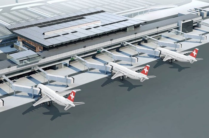 Projeção do novo aeroporto de Florianópolis
