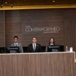 Recepção do Hotel Contemoprâneo