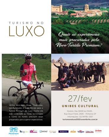 Evento acontecerá em São Paulo e pretende evidenciar tendências do turismo de luxo no Brasil e em destinos estrangeiros