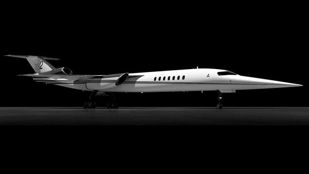 Imagem renderizada do AS2, avião supersônio da Aerion
