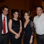 Thiago Piccirilo, Cleide Baletre e sandra Neumann, do Royal Palm Plaza, acompanhada do seu esposo Vitor Frugis