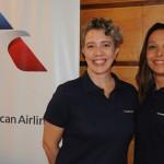 Valéria Andrade e Patrícia Lacerda, da American Airlines
