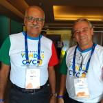 Valter e Ivan, do time de vendas da CVC Rio de Janeiro