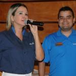 Viviane Fernandes, da Nice Via Apia, com André Almeida, do Visit Orlando