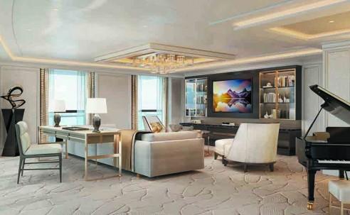 Regent apresenta nova suíte de luxo considerada a maior da indústria; veja fotos