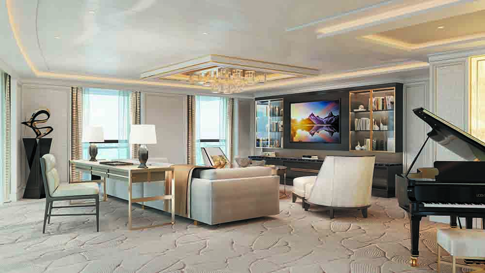Sala de estar da Regent Suite