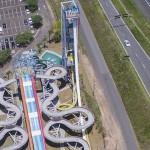 Vista aérea das duas novas atrações