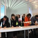 A assinatura conjunta do acordo de stopover entre TAP e os estados