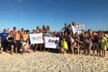 """Em Natal, Azul Viagens inicia famtour com vencedores da campanha """"Tudo Começa Azul"""""""