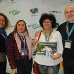Ana Claudia Rego, Kelma Silva, Marinilda Godde, do Amazonas, com João Araujo, de Manaus