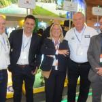 Antonio Accioly do M&E, Gilmar Piolla, secretário de Turismo de Foz, Rosa Masgrau e Roy Taylor, do M&E, e Hugo Veiga, do Maranhão