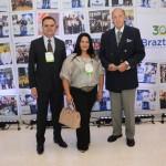 Assis Leite, presidente da Avirrp, Solange Abari, da Avirrp, e Michel Tumma Ness, da FENACTUR