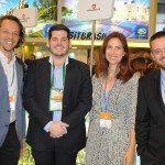 Bruno Giovanni, do RIOgaleão, Diogo Beltrão, de Pernambuco, Luciana de Lamare, da TurisRio, e Diego Feijó, da Embratur
