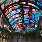 A Galeria Bellissima possui teto interativo que muda as projeções ao longo do dia