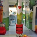 Área dedicada para bebês de zero à dois anos