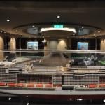 Todos os andares possuem uma maquete de algum navio da MSC