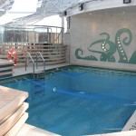 Piscina exclusiva para membros do Yatch Club