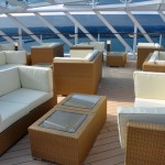 Lounge externo do Yatch Club