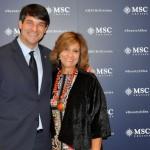 Ignacio Hidalgo, da MSC, e Marianne Saramago, da Ematur Viagens