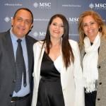 Ana Paula Pereira e River Pereira, da Home Travel RJ, e Jaqueline Messina, da MSC