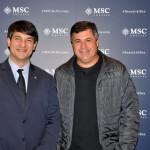 Ignacio Hidalgo, da MSC Brasil, e Kleber Silva, da Abreutur