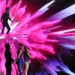 O evento contou com uma pequena apresentação do Cirque du Soleil, que agora faz parte da programação oferecida pelo novo navio