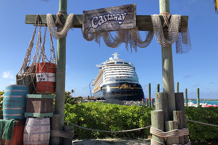 Disney Dream em Castaway Cay, ilha privativa da Disney