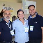 Fernando Abrão, Priscila e Danilo Dessotti, da Braztoa