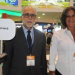 Fernando Vernier e Adriana Scolfaro, do Visit Campinas