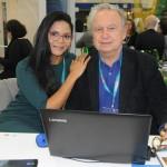 Francisca Silva e Jean Roumilhac, do Hotel Pousada Oka da Mata