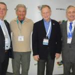 Galip Gur, Enrique Litman, Michel Bujold e Bruno Bodard, do Les Plus Belles Baies du Monde