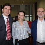 Guilherme Dieltze, Natalia Tafarello e Jean Claude Silberfeld, da FecomercioSP