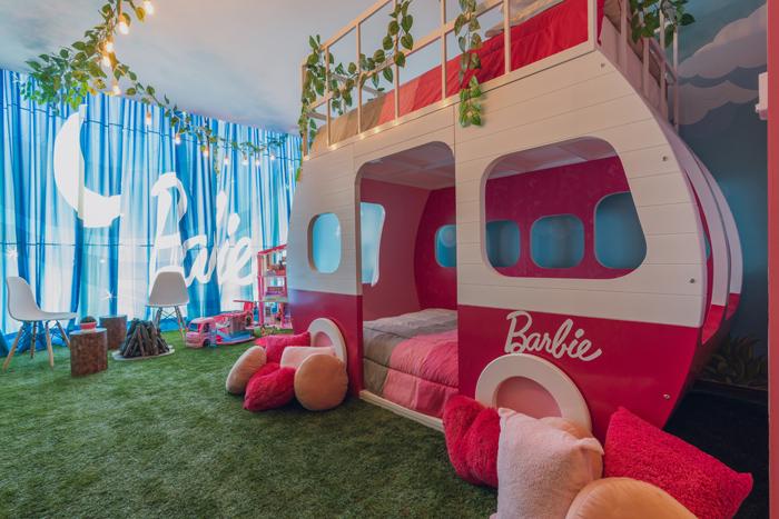 Glamping Barbie, Hilton Hotel, Santa Fe, Mexico