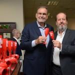 Inbrahim Tahtouh,da IT Mice, e Eduardo Sanovicz, da ABEAR