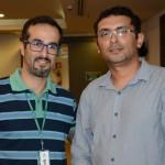 João Mauro Carrillo, da Fundação Florestal, e Junior Petar, da Mangarito