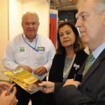 Luis Alberto Machado, embaixador do Brasil em Portugal, visitou o estande do M&E