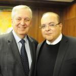 Luiz Alberto Machado, embaixador do Brasil em Portugal, e Ibaneis Rocha, governador do DF