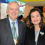 Luiz Alberto Machado, embaixador do Brasil em Portugal, e Teté Bezerra, presidente da Embratur
