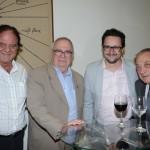 Luiz Antonio Flaquer, do Hotel Midia, Aristides de la Plata Cury, do Skal SP, Danilo Duarte, da GRU CVB, e Irineu Burin, da New Deal Receptive