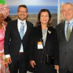 Marli Trindade e Fausto Franco, da Bahia, Teté Bezerra, presidente da Embratur, e Luiz Alberto Machado, embaixador do Brasil em Portugal