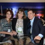 Natalia Pison e MAria MAura, da Inprotur Argentina, e Ivan Blanco, da Aerolíneas Argentinas