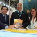 Otávio Leite, da Setur-RJ, Wilson Witzel, governador do RJ, e Andrea Revoredo, do Rio CVB