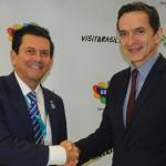 Otávio Leite, secretário de Turismo do RJ, e Peter de Brine, da UNESCO