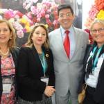 Patricia Palacios, do Ministério do Turismo do Equador, Rosi Prado, ministra do Turismo do Equador, José Luis Egas, subsecretário de Mercados e RI, e Rosa Masgrau, do M&E